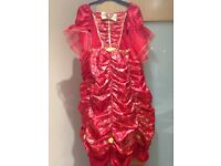 Disney Belle Red Fancy Dress Aged 7-8 Excellent Condition Fab for Christmas