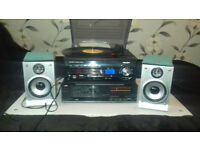 Turntable stereo audio set
