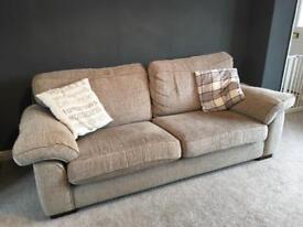 3 & 2 mink coloured sofas /settee