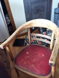 Farmhouse rustic chair