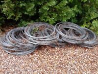 Galvanised 2mm and 2.4mm wire, approx 10,000m, in lengths of 35m and 47m