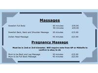 Massage and therapy treatments. Service to your door