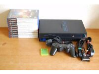 PlayStation 2 Console + Accessories + 10 Games
