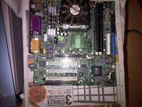 MSI MS-6533 VER:1 SKT 478 MOBO + BP, INTEL CELERON 1.8GHz CPU, H/S+FAN+1GB RAM
