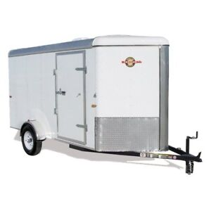 2016 Carry-On 6x12 V-nose trailer with rear ramp door