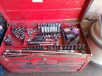 Chest tool kit suitable for car repairs (professional quality)