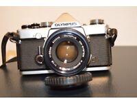 Olympus OM-1 35mm FILM camera + Vivitar Zoom Macro lens