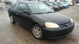 2002 Honda Civic Si, 5 Speed manual, Loaded interior, 2 Doors!