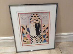 """"""" Here Comes The Bride"""" Print behind Glass by John Lim"""