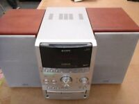 Sony S Master HiFi system with MP£, 3disk changer