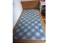 IKEA MALM SINGLE BED (INCL MATTRESS)