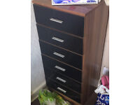 Brown and black drawers