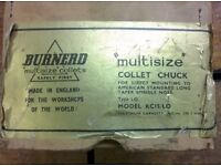 Burnerd KC15 Multisize Collet Chuck. L0 fitting. Unused and as new - Ex High School.