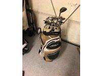 Full golf set, nike cpr woods & irons, King cobra driver, wilson putter, Ogio bag