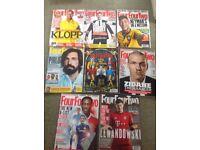 Bundle of 8 2015 four four two magazines
