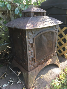 Cast iron outdoor fire place