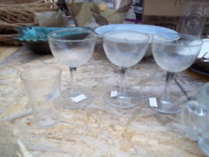 3 Crystal Glasses Down Sizing