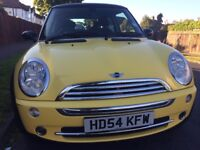 2005 MINI 1.6 MINI COOPER 3dr Hatchhhback,YELLOW Color,91000 Miles,54 Reg,Good,A/C,Alloys,FSH,2Owner