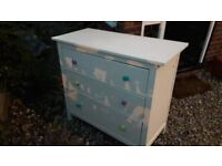Large IKEA chest of drawers FREE painted cream