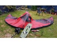 Kite surfing AirRush 12m kite board and bar
