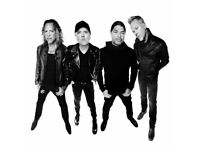 Metallica @ The o2 (2 x Standing & 2 x Seated) tickets available will negotiate price 24/10/17 @ 6pm