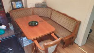 German Oak 8 pc Breakfast Nook / Dining set
