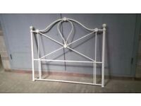 White metal head frame for double bed