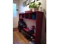 HAS TO GO BY MONDAY 24TH - hallway shelf unit , excellent condition, very nice