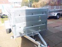 NEW Car trailer 7.7 x 4.1 double broadside