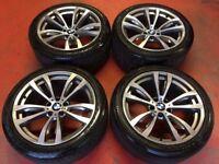 "20"" GENUINE BMW X5 F15 M SPORT PERFORMANCE ALLOY WHEES TYRES 5x120 469"