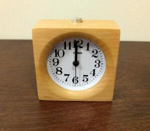 "Handmade wooden alarm clock 4"" x 4"""