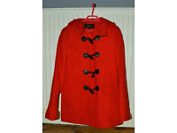 Ladies red coat (size 8)