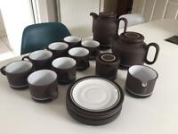 Hornsea contrast pottery tea and coffee set