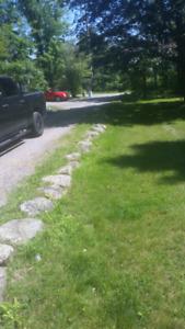 Landscaping rock- red granite etc