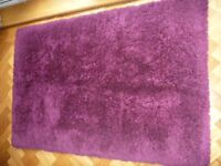 Purple Deep Pile Rug in Excellent Condition