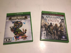 XBOX ONE GAMES - RARE REPLAY & ASSASSINS CREED UNITY (USED) MNX