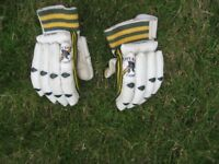 LEATHER CRICKET GLOVES - JUNIOR/YOUNG TEEN