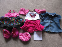 Bundle 8 - set of BABW or equivalent bear clothes + pink shoes- £10