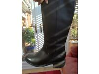 Genuine long leather ladies UGG boots