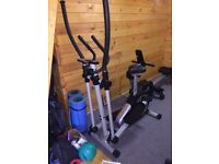 Roger Black 2 in 1 cross trainer and exercise bike