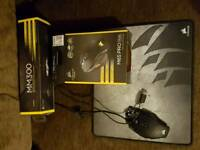 Gaming mouse and gaming mouse mat
