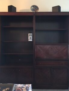 Dark cherry wood Wall Unit