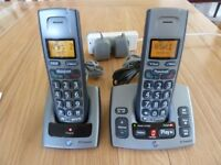 BT Freestyle 750 Cordless Phone Twin Set with Answering Machine