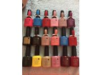 CND Shellac Polishes approx Half left