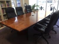 Solid rosewood ex Goldman Sachs office furniture for sale