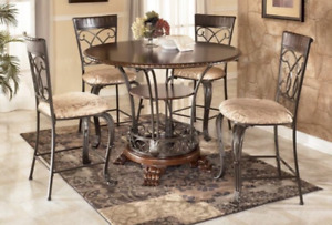 Ashley Dining Set - 4 Chairs