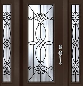 Single Front Entry Door and Two SideLights 4