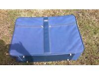 Extra large canvas 2 wheel suitcase
