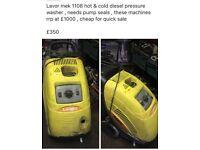 Lavor mek 1108 hot & cold diesel pressure washer