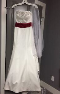 Mon Cheri Bridals Wedding Dress and Veil